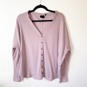 Urban Outfitters Waffle Knit Long Sleeve Shirt M